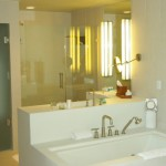 One of the bathrooms in the suite