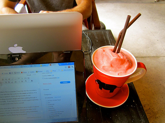 Working at Elliebum Cafe and Guesthouse