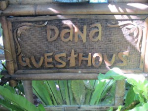 Dana Guesthouse sign