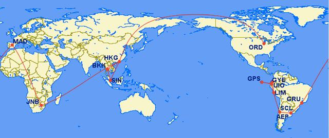 Around The World Itinerary