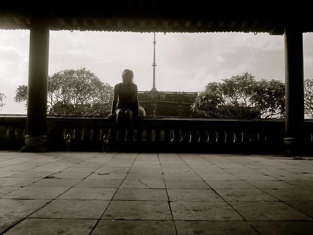 Caroline Eaton in Hue, Vietnam