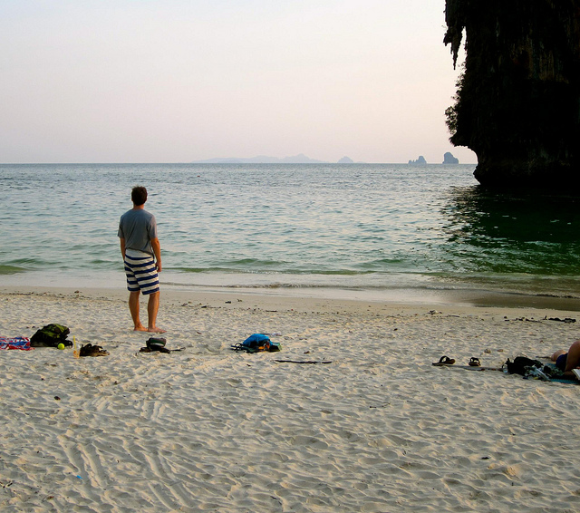 Josh Eaton at Railay Beach, Thailand