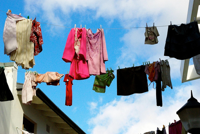 Clothes hanging in south africa