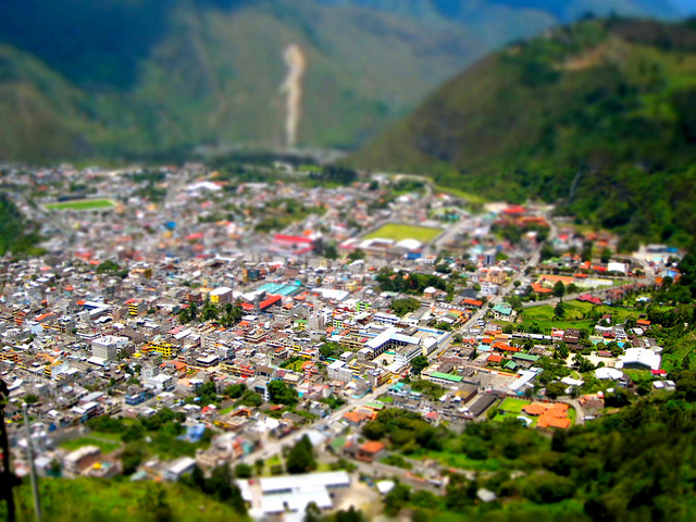 View of Banos Ecuador