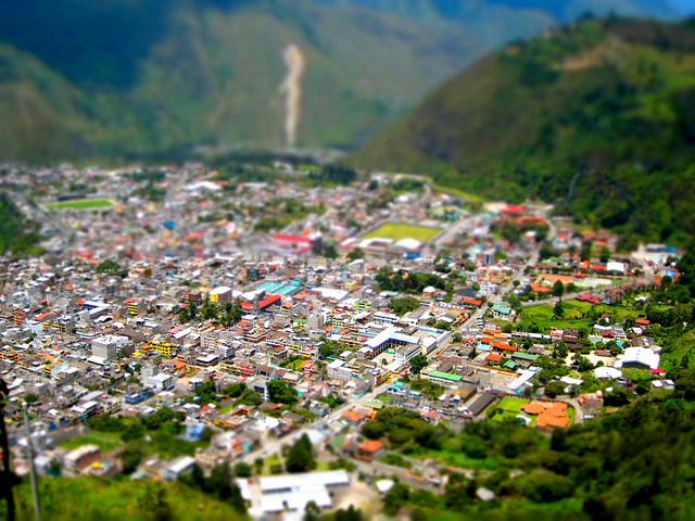 View of Banos Ecuador