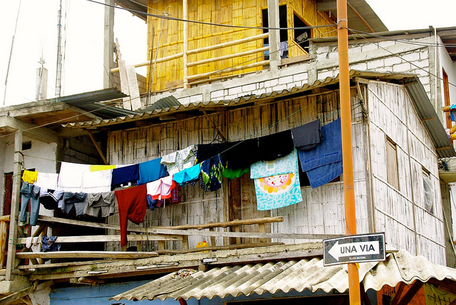 clothes hanging in montañita ecuador