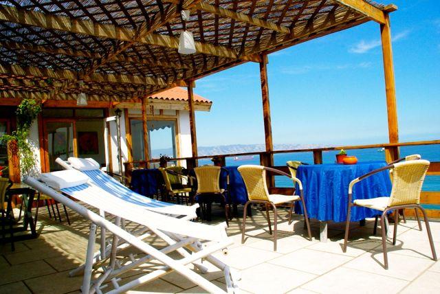 The terraza at Posada BellaMare