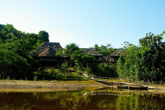lodge in amazon jungle