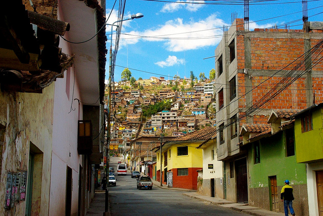 our street in cusco