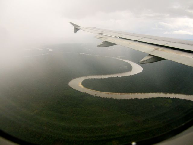 Amazon river from a plane