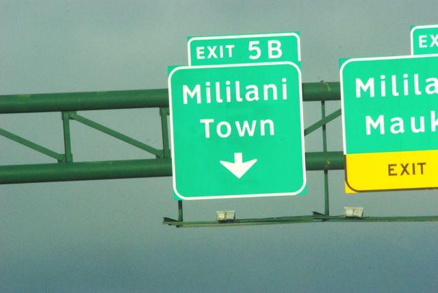 mililani town sign