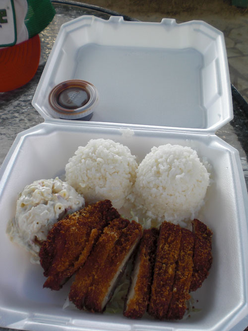Hawaiian plate lunch