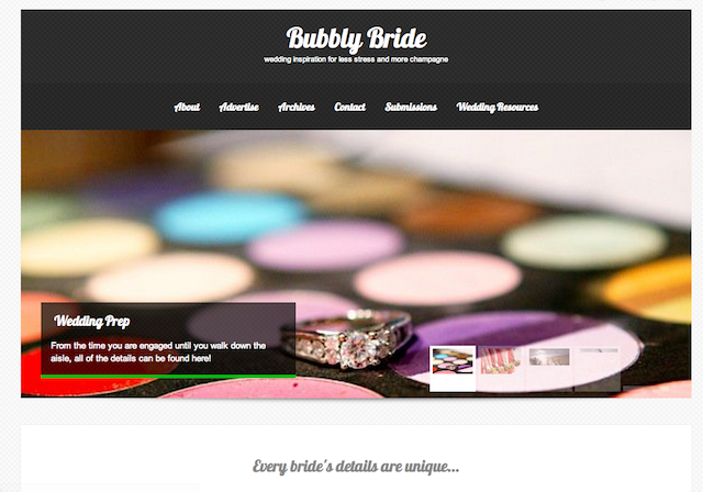 bubbly bride for weddings