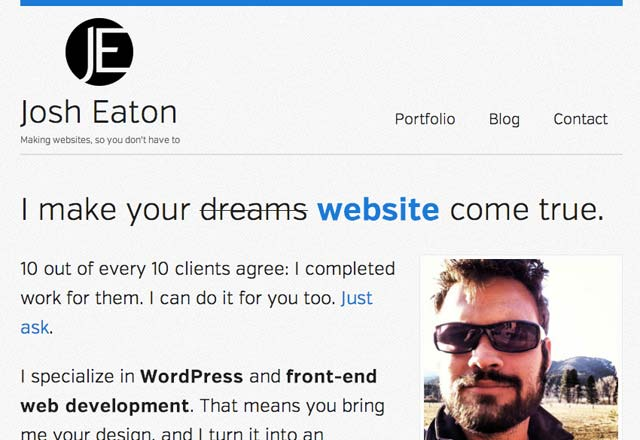 josh eaton website developer