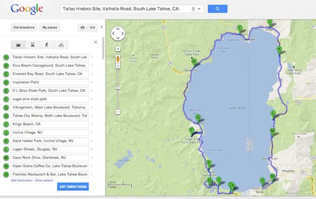 driving lake tahoe