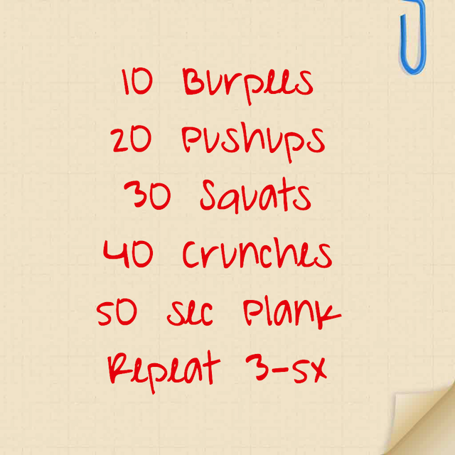 Travel Workout for April