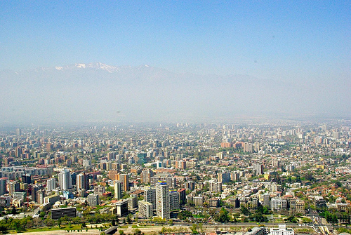 overlooking santiago, Chile