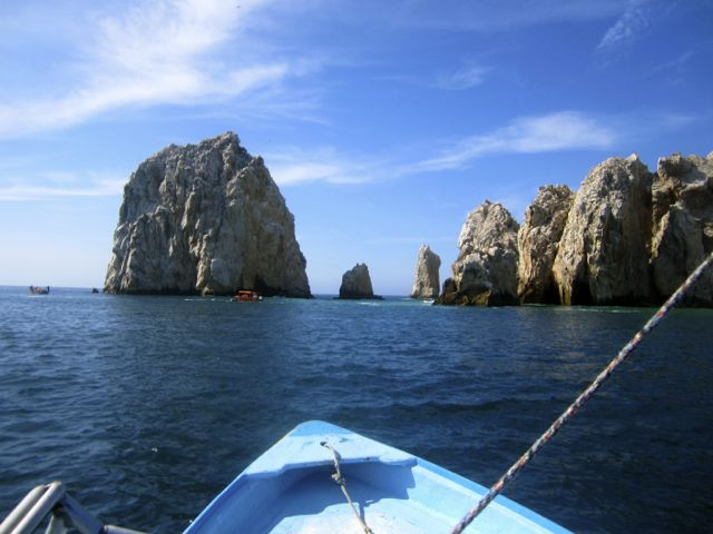 Lands end and lovers beach in cabo, mexico
