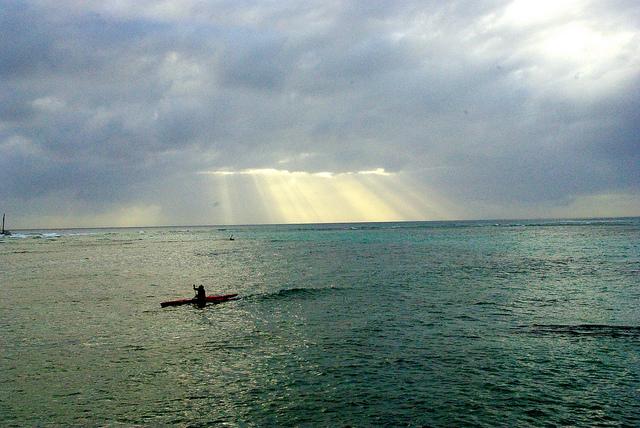 kayak on Waikiki beach in hawaii