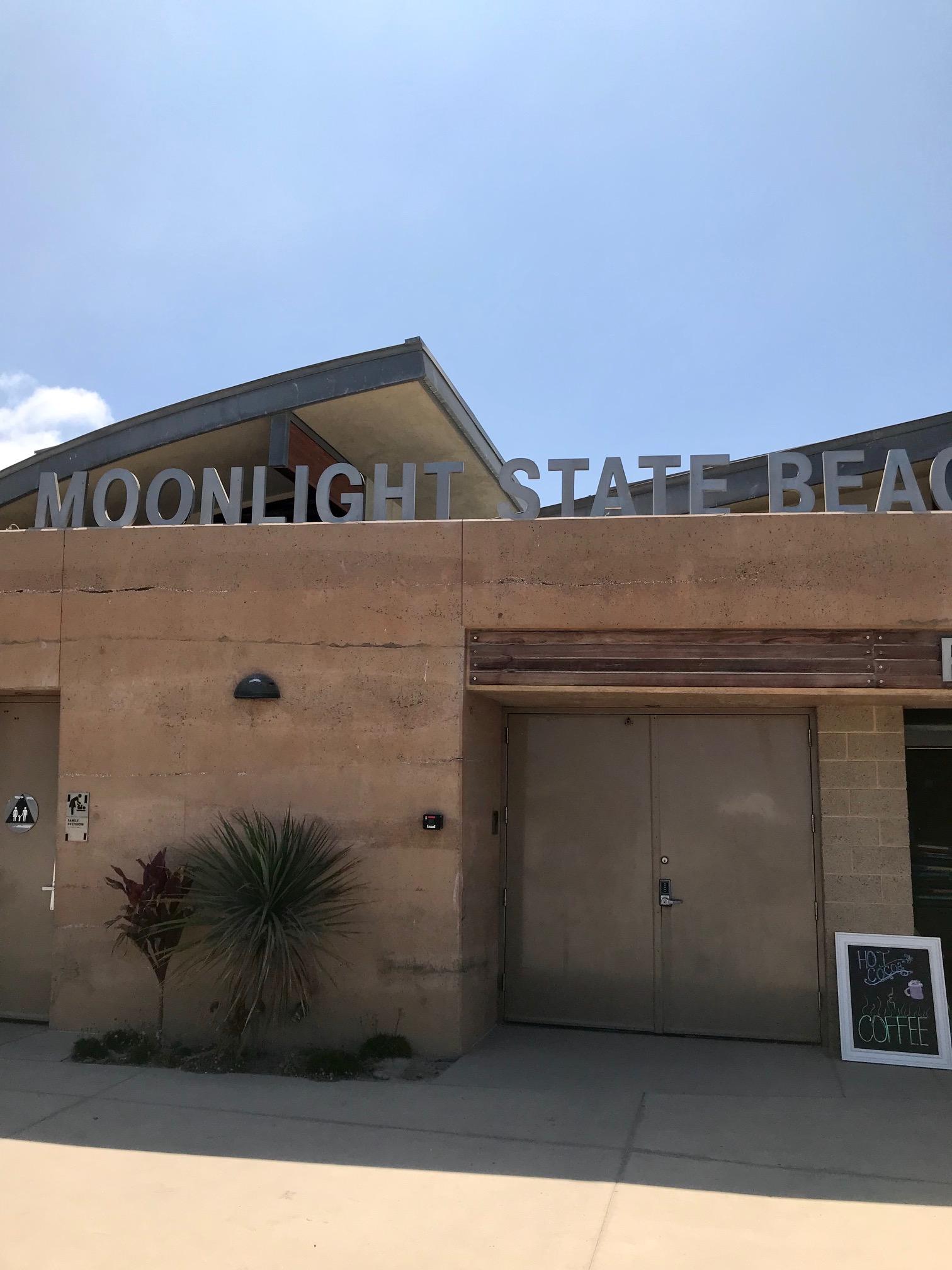 southern california beach moonlight